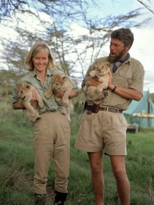 "Virginia McKenna and bill Travers in ""Born Free"" the movie (Photo creds to conspiracy cafe)"